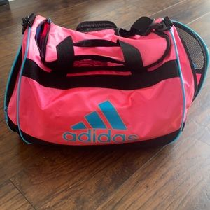 VTG color wave Adidas duffle pink and baby blue